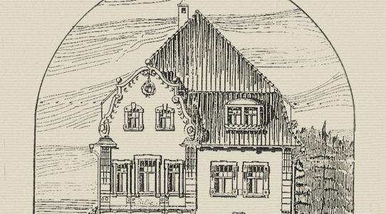 Frontansicht des Architekturentwurfs