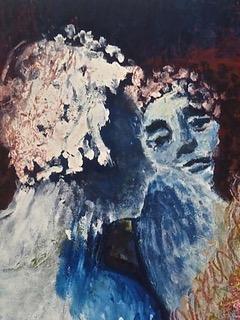 Jutta Grell: Verabschiedung in die Zukunft (Detail), Eitempera auf Leinwand, 2018, 115 x 100 cm