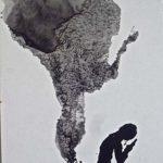 Jutta Grell: Wolke, Tuschzeichnung