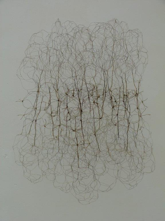 Monika Schmid - Rhizom, Messingdraht, 2019, 45 x 45 x 35 cm